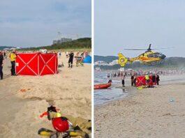 Międzyzdroje: 16-latek tonął w Bałtyku. Na miejscu lądował helikopter LPR