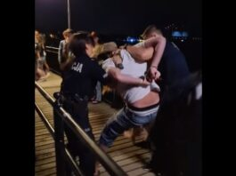 Międzyzdroje: Szarpanina na molo. Pijany mężczyzna chciał skakać do morza